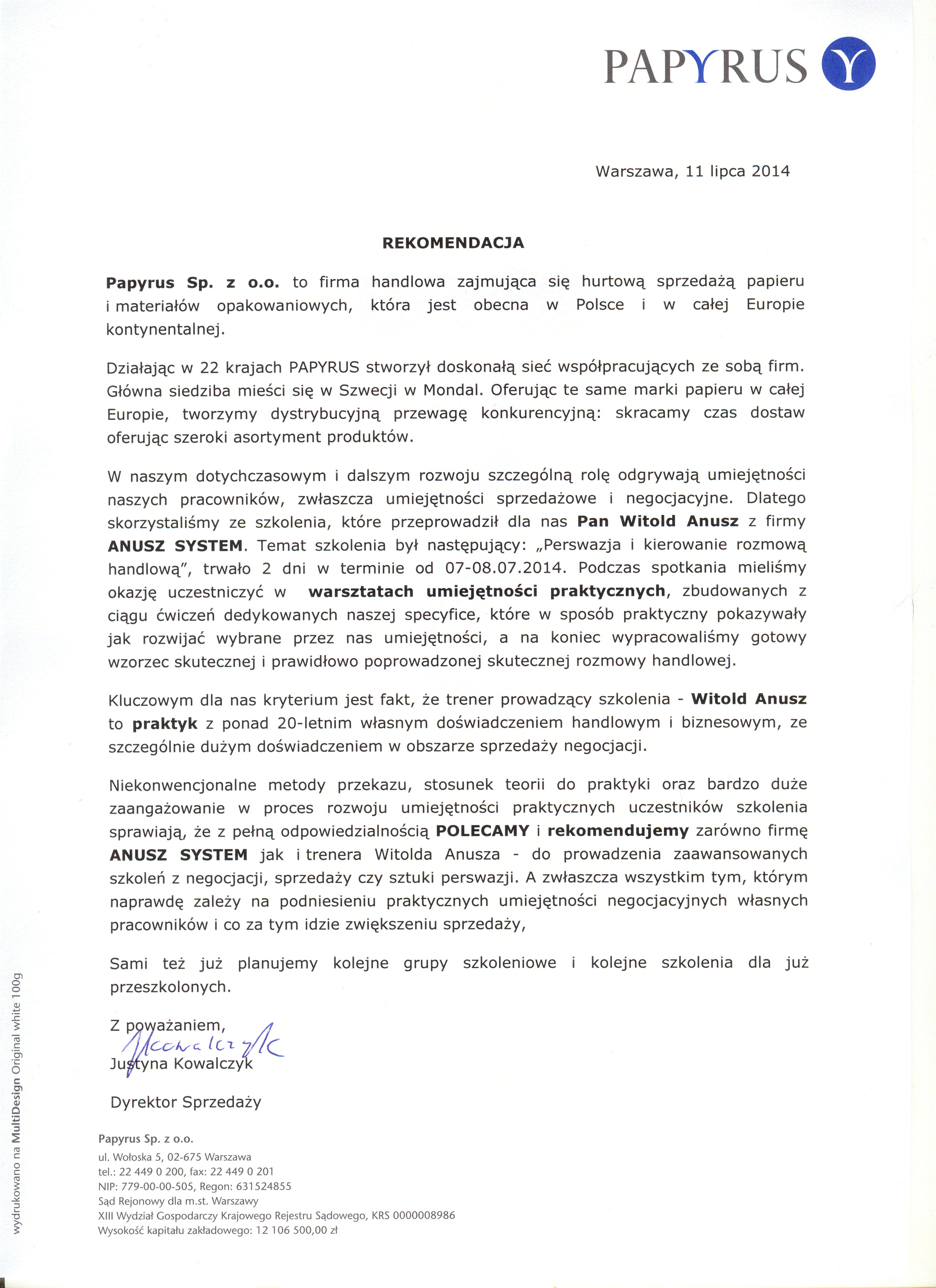 Papyrus POLSKA Sp. z o.o.